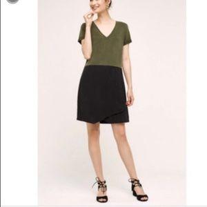 Xs Dolan Green black dress anthropologie
